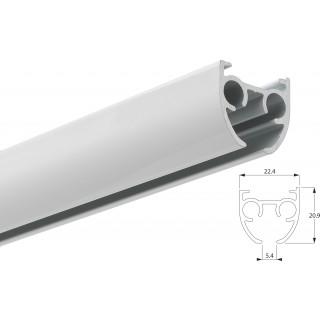 Silent Gliss SG 6840 Hand Drawn White Aluminium Curtain Track