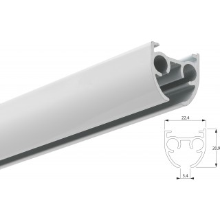 Silent Gliss SG 6840 Hand Drawn White Aluminium Curtain Track