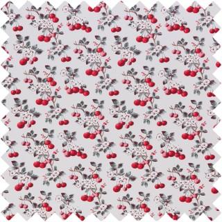 Cherry Sprig Fabric CHERRYSPRIGRE by Cath Kidston