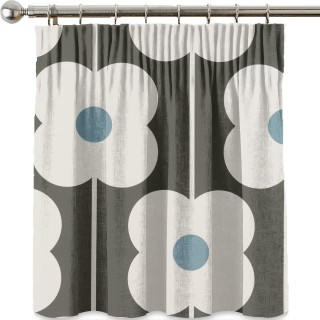 Orla Kiely Abacus Flower Fabric Powder Blue