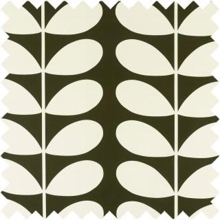 Orla Kiely Giant Stem Fabric Khaki