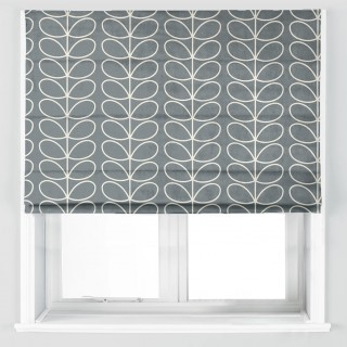 Orla Kiely Linear Stem Fabric Cool Grey