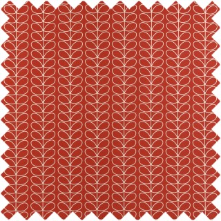 Orla Kiely Linear Stem Fabric Tomato