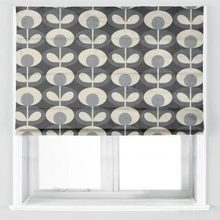 Orla Kiely Oval Flower Fabric Cool Grey