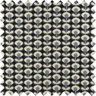 Orla Kiely Oval Flower Fabric Cool Grey
