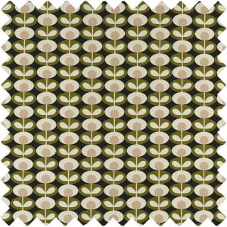 Orla Kiely Oval Flower Fabric Seagrass