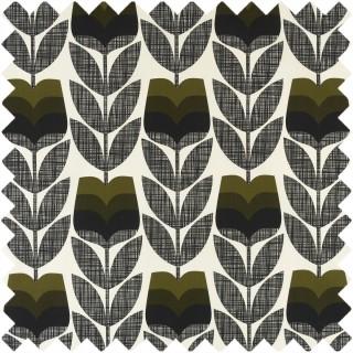 Orla Kiely Rose Bud Fabric Moss
