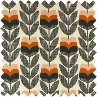 Orla Kiely Rose Bud Fabric Orange
