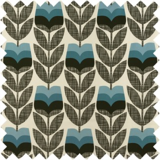 Orla Kiely Rose Bud Fabric Powder Blue