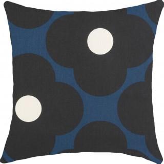 Orla Kiely Spot Flower Fabric Dark Marine