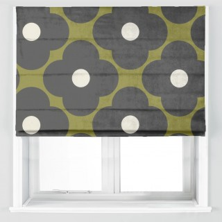 Orla Kiely Spot Flower Fabric Seagrass