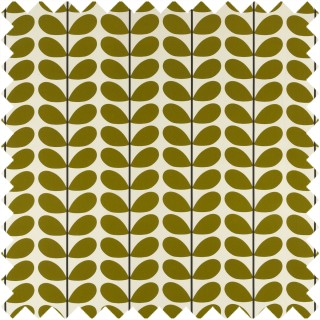 Orla Kiely Two Colour Stem Fabric Olive