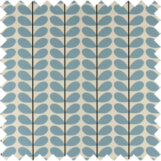 Orla Kiely Two Colour Stem Fabric Powder Blue