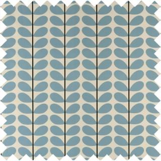Orla Kiely Two Colour Stem Fabric Powder Blue