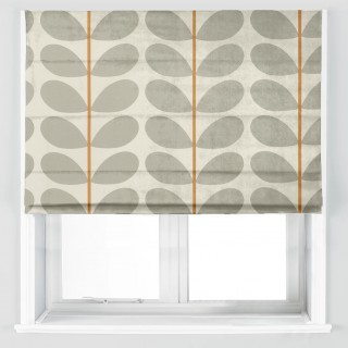 Orla Kiely Two Colour Stem Fabric Warm Grey