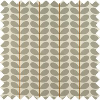 Orla Kiely Two Colour Stem Fabric Warm Grey
