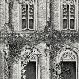 Animal Architecture Wallpaper BMTD001/03B by Brand McKenzie