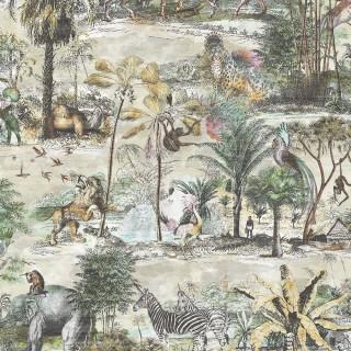 Animal Islands Wallpaper BMTD001/04A by Brand McKenzie