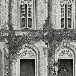 The Architecture Wallpaper BMTD001/12B by Brand McKenzie