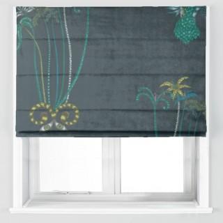 Emma J Shipley Jungle Palms Velvet Fabric F1209/01