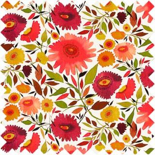 Clarke & Clarke Kim Parker Zinnias Linen Fabric Collection F0835/01