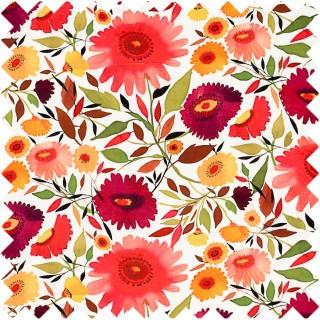 Clarke & Clarke Kim Parker Zinnias Velvet Fabric Collection F0836/01