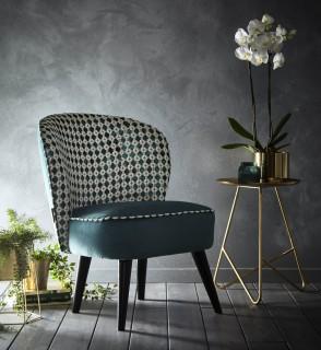 Maui Cocktail Chair Kingfisher by Clarke and Clarke