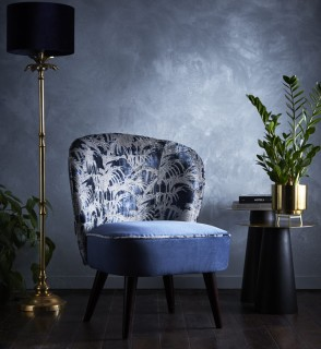 Tropicale Cocktail Chair Midnight by Clarke and Clarke