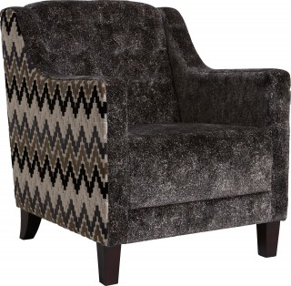 Stucco Armchair Ebony by Clarke and Clarke