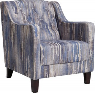 Latour Armchair Indigo by Clarke and Clarke