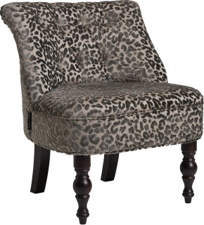 Leopold Cocktail Chair Pewter by Clarke and Clarke