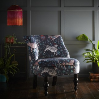 Protea Cocktail Chair Navy by Emma J Shipley