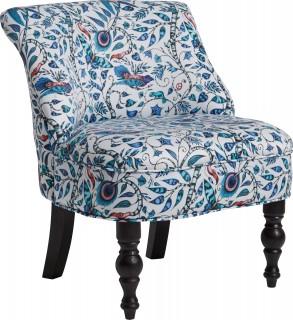 Rousseau Cocktail Chair Blue by Emma J Shipley