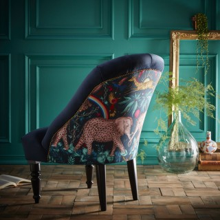 Zambezi Tub Chair Navy by Emma J Shipley