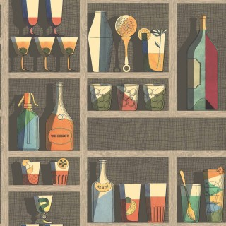 Cocktails Wallpaper 114/23043 by Cole & Son