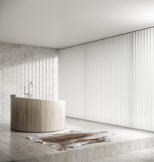 Decora Fabric Box Linden 89mm Vertical Blind