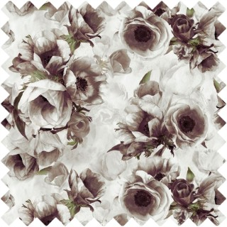 Sepia Flower Fabric FDG2958/01 by Designers Guild