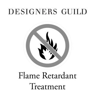 Designers Guild Flame Retardant Treatment for fabric