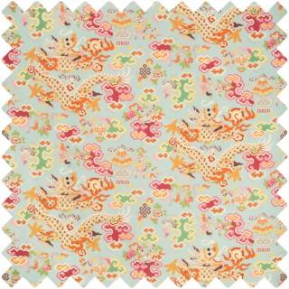 Ming Dragon Print Fabric 8019140.137 by Brunschwig & Fils