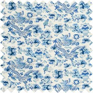 Ming Dragon Print Fabric 8019140.155 by Brunschwig & Fils