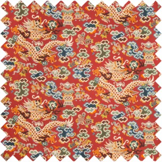 Ming Dragon Print Fabric 8019140.195 by Brunschwig & Fils