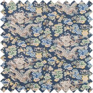Ming Dragon Print Fabric 8019140.5 by Brunschwig & Fils