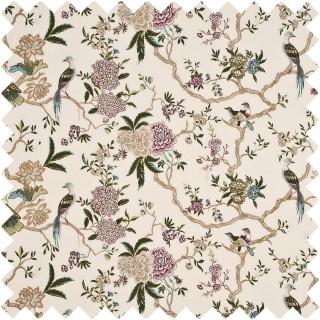 GP & J Baker Holcott Oriental Bird Embroidery Linen Fabric Collection BF10417.2