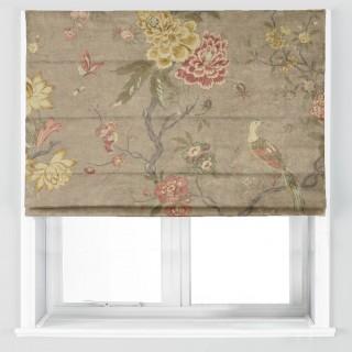 Oriental Bird Velvet Fabric BP10818.1 by GP & J Baker
