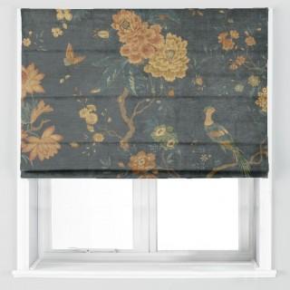 Oriental Bird Velvet Fabric BP10818.2 by GP & J Baker