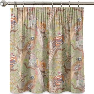 Mulberry Home Bohemian Romance Game Birds Linen Fabric Collection FD269.K102