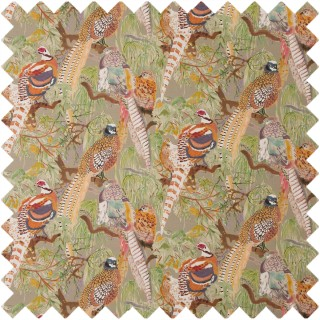 Mulberry Home Bohemian Romance Game Birds Linen Fabric Collection FD269.K102