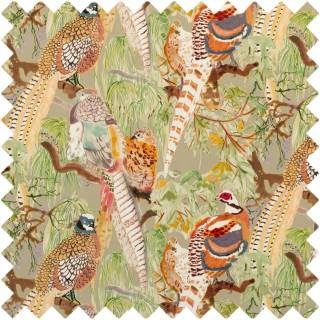 Mulberry Home Bohemian Romance Game Birds Velvet Fabric Collection FD268.K102