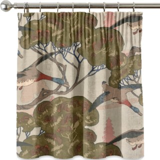 Mulberry Home Country Weekend Flying Ducks Velvet Fabric Collection FD258.H22