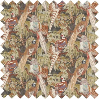 Game Birds Linen Fabric FD269.A101 by Mulberry Home